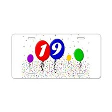 19th Birthday Aluminum License Plate