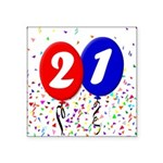 21st Birthday Square Sticker 3