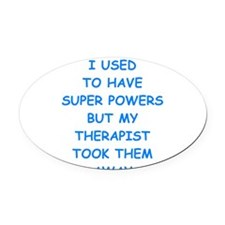 super powers Oval Car Magnet