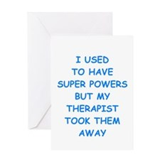 super powers Greeting Cards