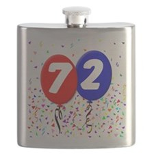 72nd Birthday Flask