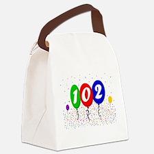 102nd Birthday Canvas Lunch Bag