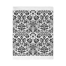 Black and white damask pattern Twin Duvet
