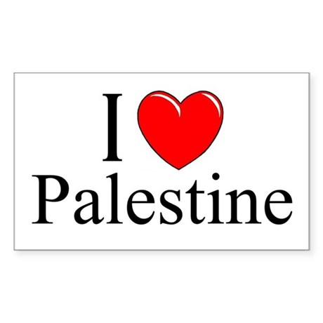 """I Love Palestine"" Rectangle Sticker"