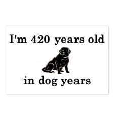 60 birthday dog years lab 2 Postcards (Package of