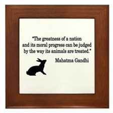 Moral Values Quote Framed Tile