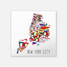 New York City Ethnic Map Sticker