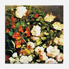 Boudin: Spray of Flowers, floral pain Tile Coaster