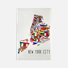 New York City Ethnic Map Magnets