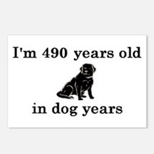 70 birthday dog years lab 2 Postcards (Package of