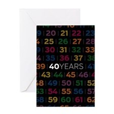 AA Anniversary 40 Years Greeting Cards