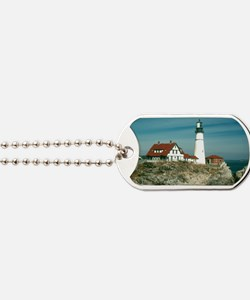 Portland head lighthouse Dog Tags