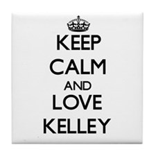 Keep calm and love Kelley Tile Coaster