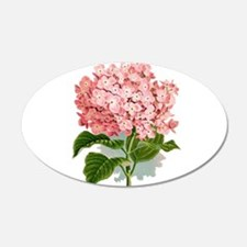 Pink hydragea flowers Wall Sticker