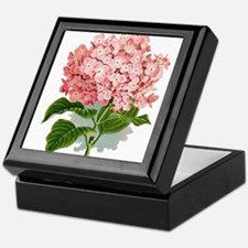 Pink hydragea flowers Keepsake Box