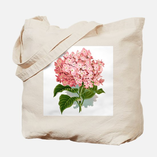 Pink hydragea flowers Tote Bag