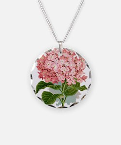 Pink hydragea flowers Necklace