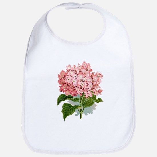 Pink hydragea flowers Bib