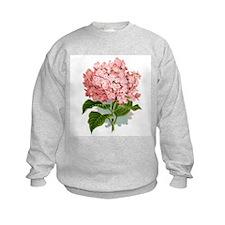 Pink hydragea flowers Sweatshirt