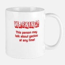 Gecko Warning Mugs
