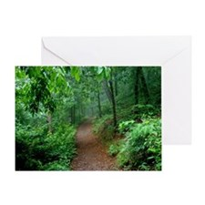 Hot Springs Mountain Trail Greeting Card
