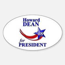 Howard Dean for President Oval Decal