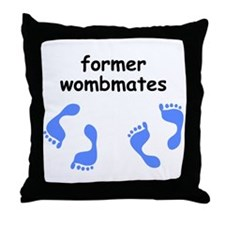 Former Wombmates (for boys) Throw Pillow