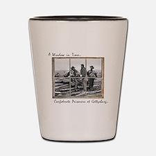 Gettysburg - Confederate Prisoners Shot Glass