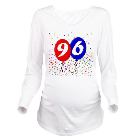 96th Birthday Long Sleeve Maternity T-Shirt