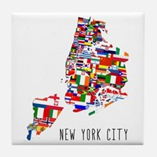 New York City Ethnic Map Tile Coaster