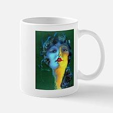 Flapper Art Deco Woman on Green Roaring 20s Mugs