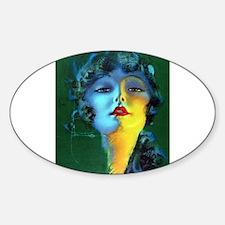 Flapper Art Deco Woman on Green Roaring 20s Sticke