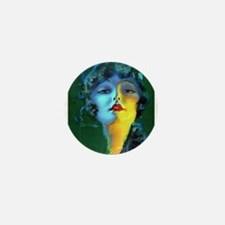 Flapper Art Deco Woman on Green Roaring 20s Mini B
