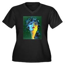 Flapper Art Deco Woman on Green Roaring 20s Plus S