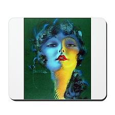 Flapper Art Deco Woman on Green Roaring 20s Mousep