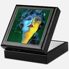 Flapper Art Deco Woman on Green Roaring 20s Keepsa
