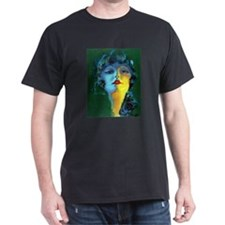 Flapper Art Deco Woman on Green Roaring 20s T-Shir