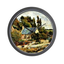 Gauguin: Washerwomen at Pont-Aven Wall Clock