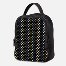 Blue And Gold Stars Neoprene Lunch Bag