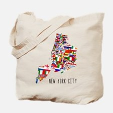 New York City Ethnic Map Tote Bag
