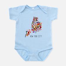 New York City Ethnic Map Body Suit