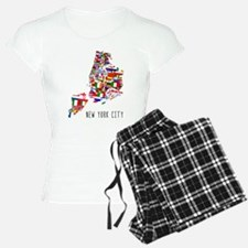 New York City Ethnic Map Pajamas