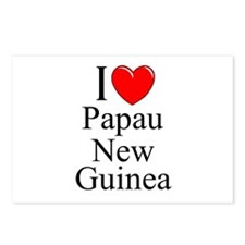 """I Love Papua New Guinea"" Postcards (Package of 8)"