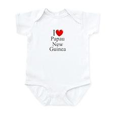 """I Love Papua New Guinea"" Infant Bodysuit"