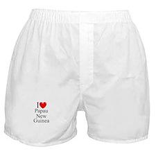 """I Love Papua New Guinea"" Boxer Shorts"