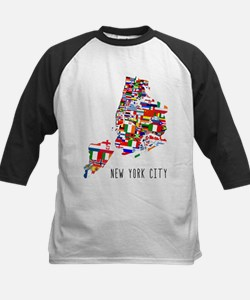 New York City Ethnic Map Baseball Jersey