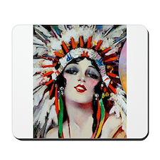 Art Deco Indian Flapper Woman With Headdress Roari