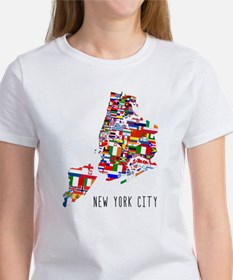 New York City Ethnic Map T-Shirt