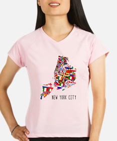 New York City Ethnic Map Performance Dry T-Shirt