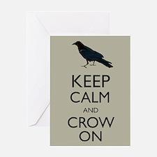 Keep Calm and Crow On Raven Edgar Allan Poe Parody